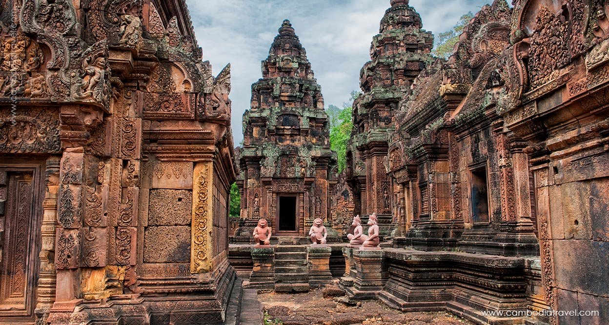 Banteay Srei temple is one of top Attractions in Cambodia