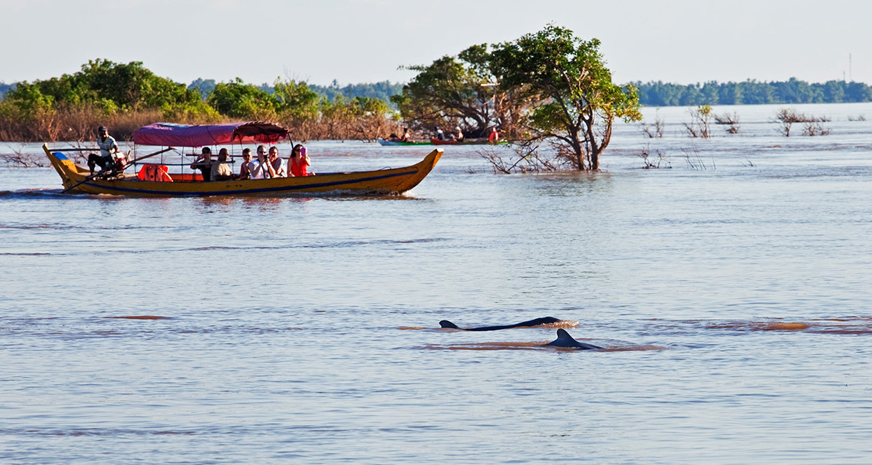 Mekong River in Kratie is the best attractions in cambodia