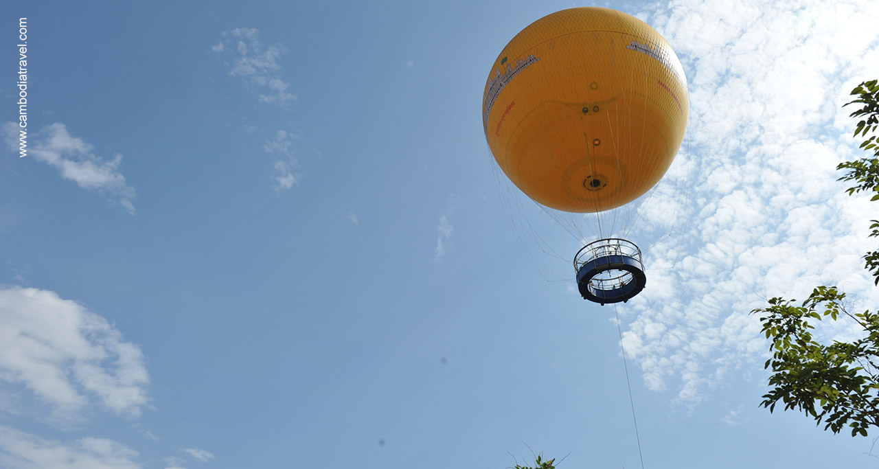 The 10 minute flight by a tethered helium balloon to see Angkor Wat from a bird's eye-view.