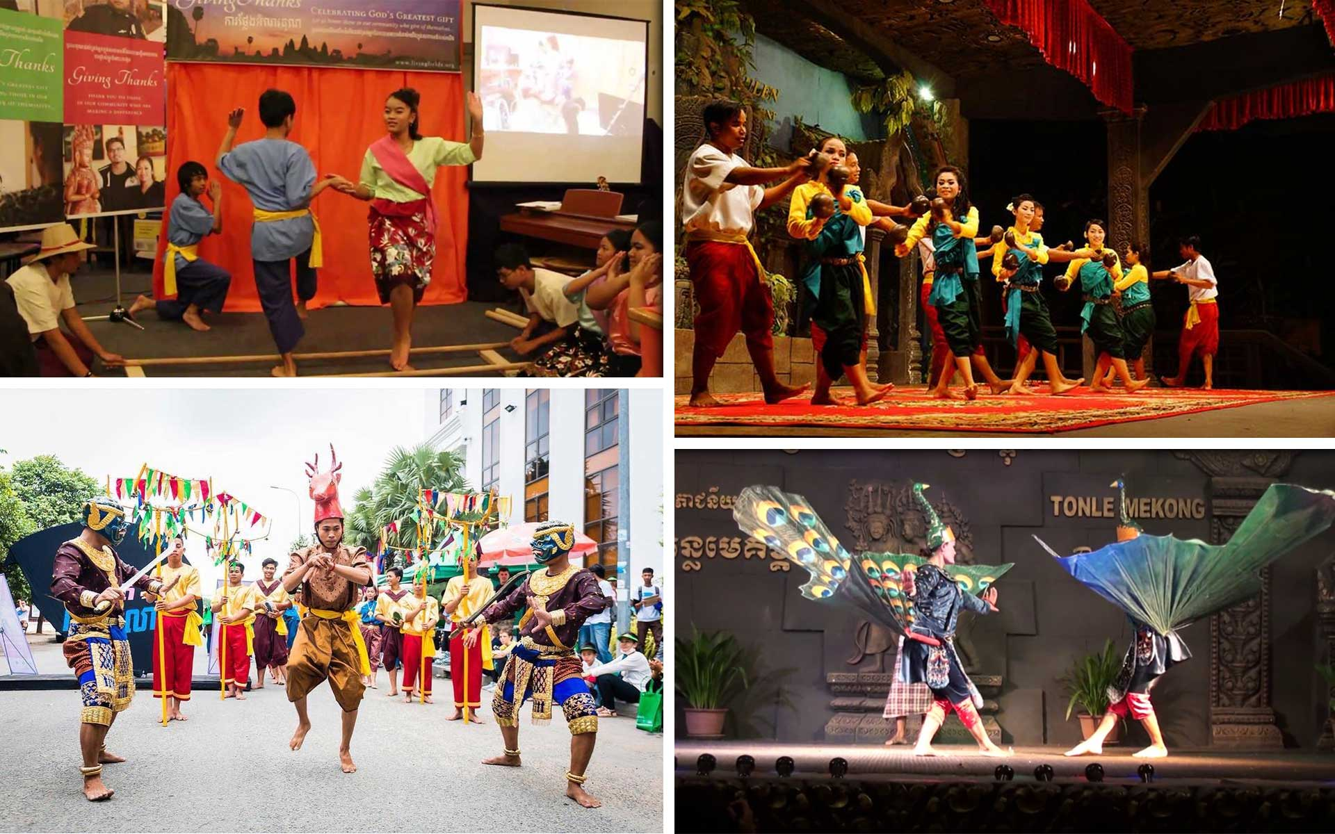 Cambodian Folk Dances highlight various cultural traditions and ethnic groups of Cambodia.