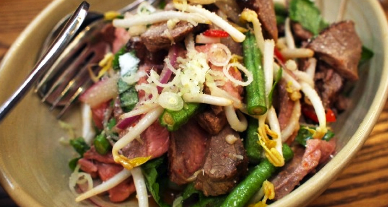 """Khmer beef salad is a """"must-try"""" dish for big fan of spicy food."""