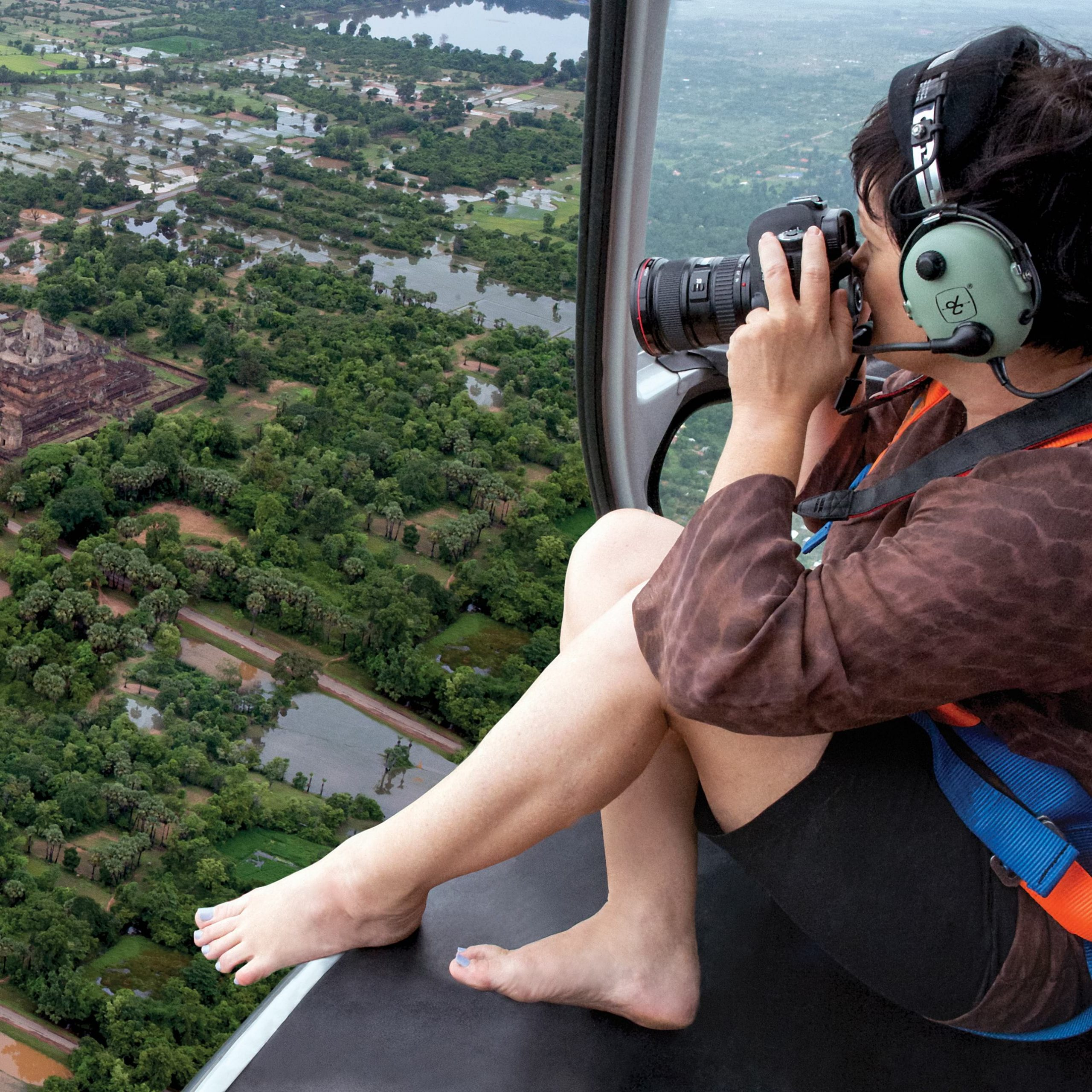 View Angkor Wat from above