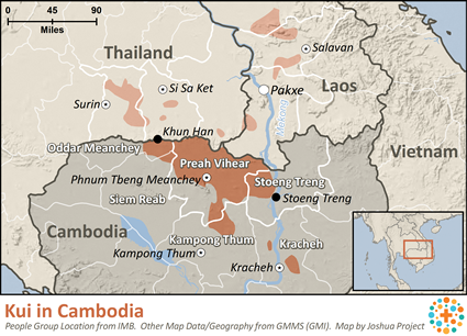 What language is spoken in Cambodia?