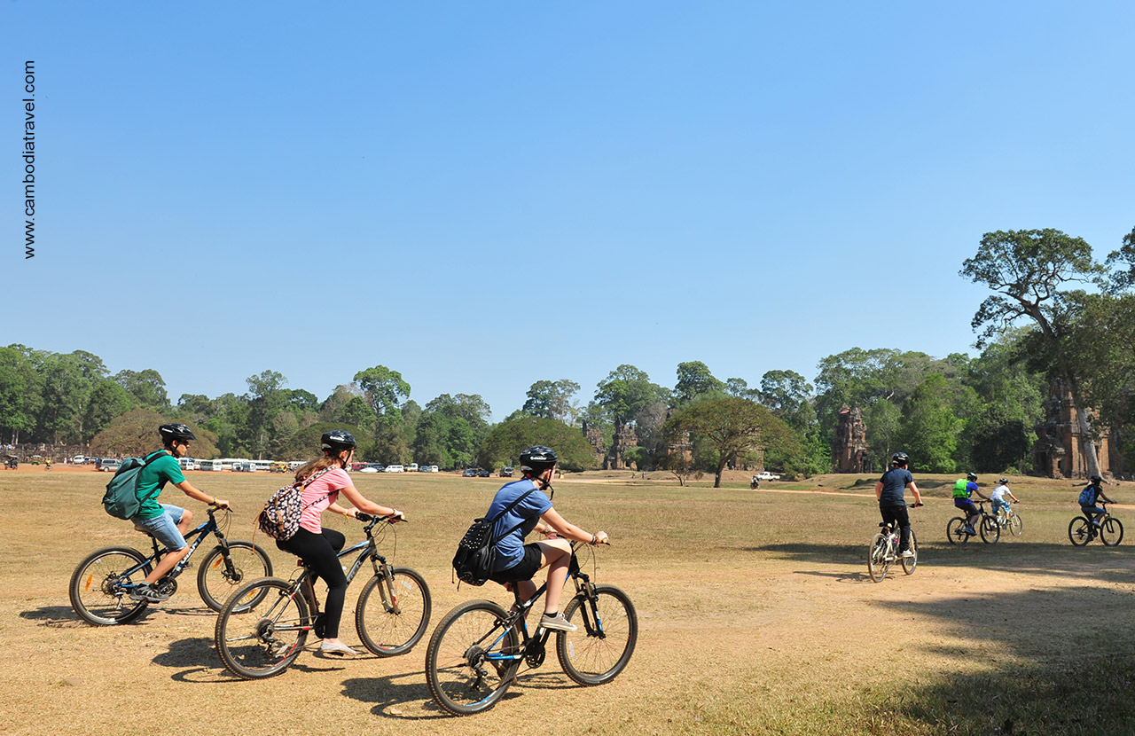 Bicycles is the more organic method to seeing Angkor.