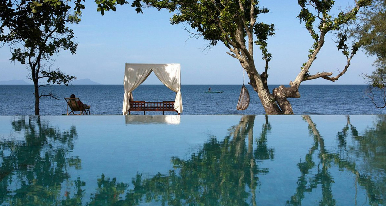 Luxury boutique resort Knai Bang Chatt is located on the South Coast of Cambodia.