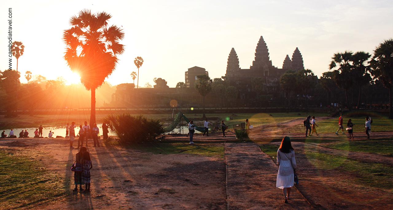 Sunrise at Angkor Wat - Angkor temples complex