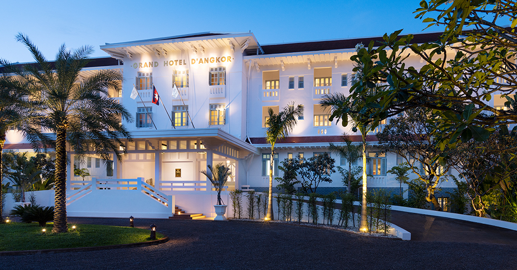 Raffles Grand Hotel d'Angkor offers a peaceful oasis perfect for a luxury Cambodian holiday.