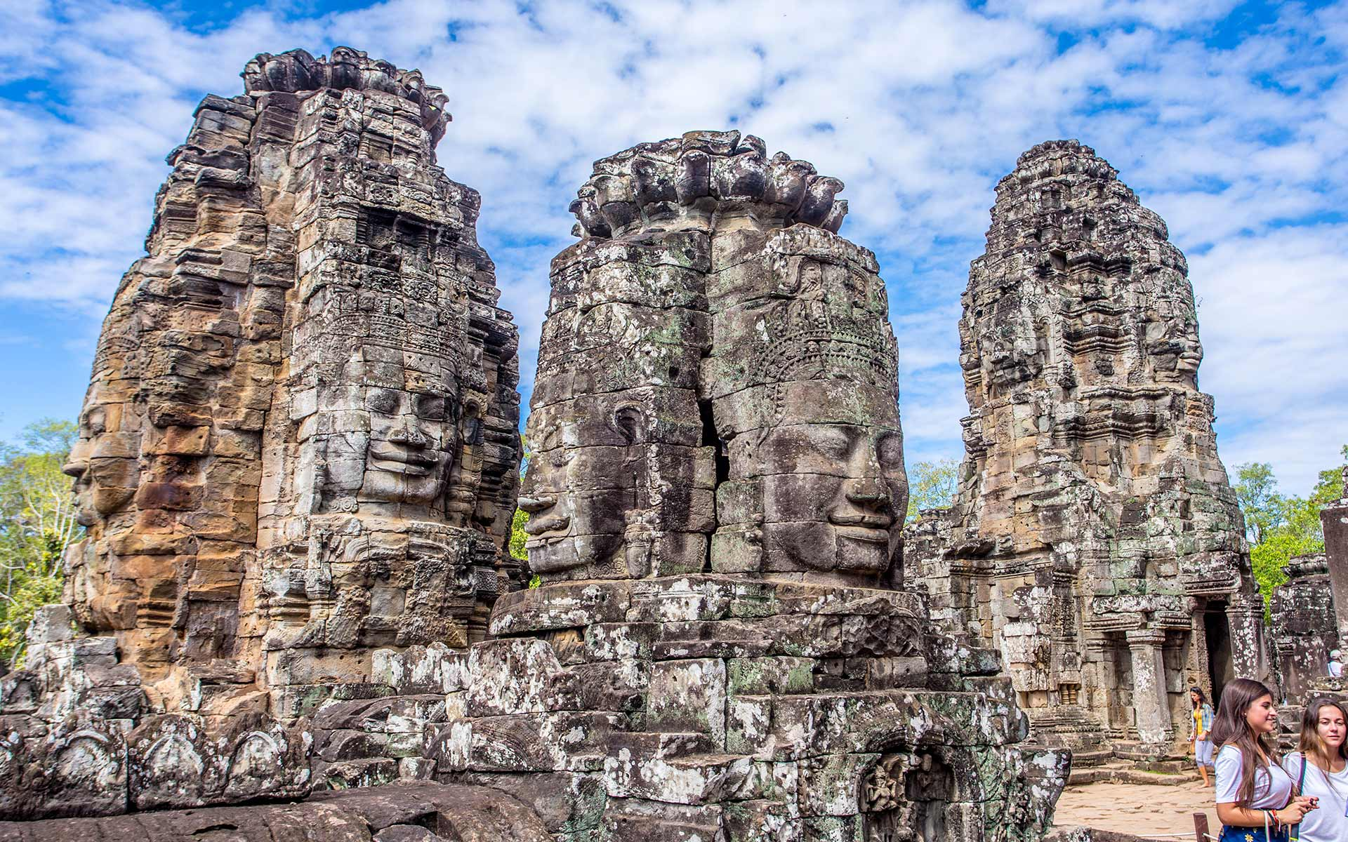 Bayon's face towers