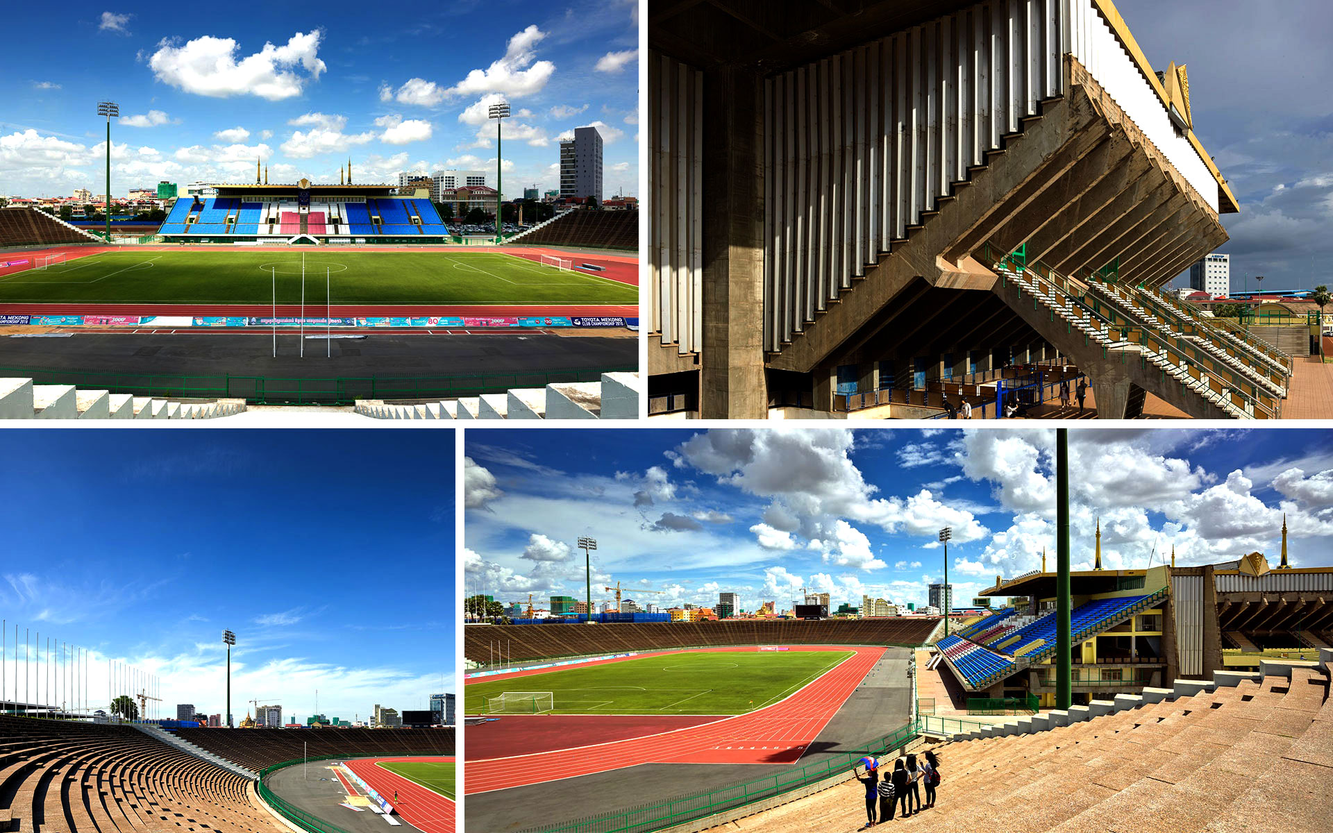 National Sports Complex by Vann Molyvann Phnom Penh Cambodia