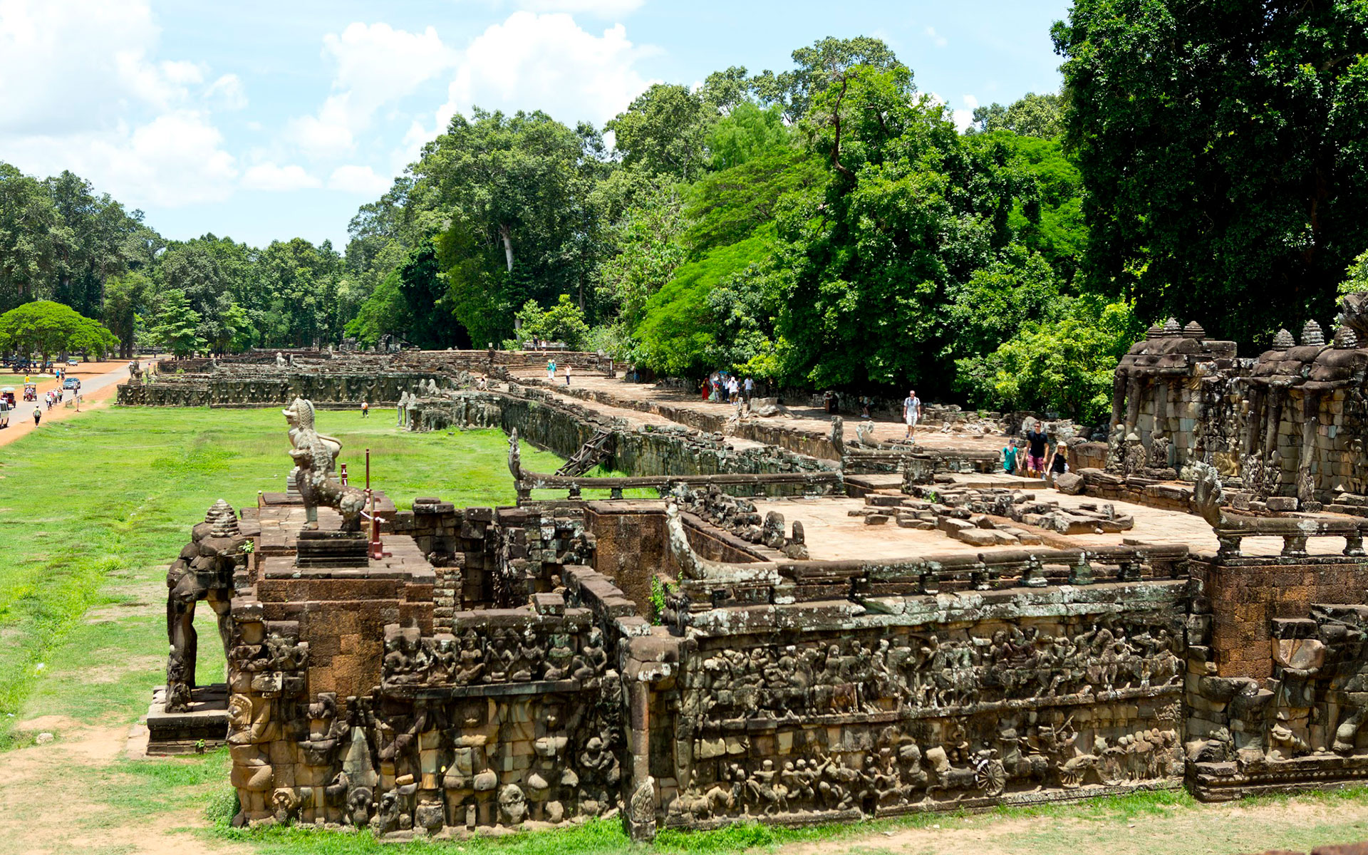 Terrace of the Elephants angkor thom sieam reap cambodia