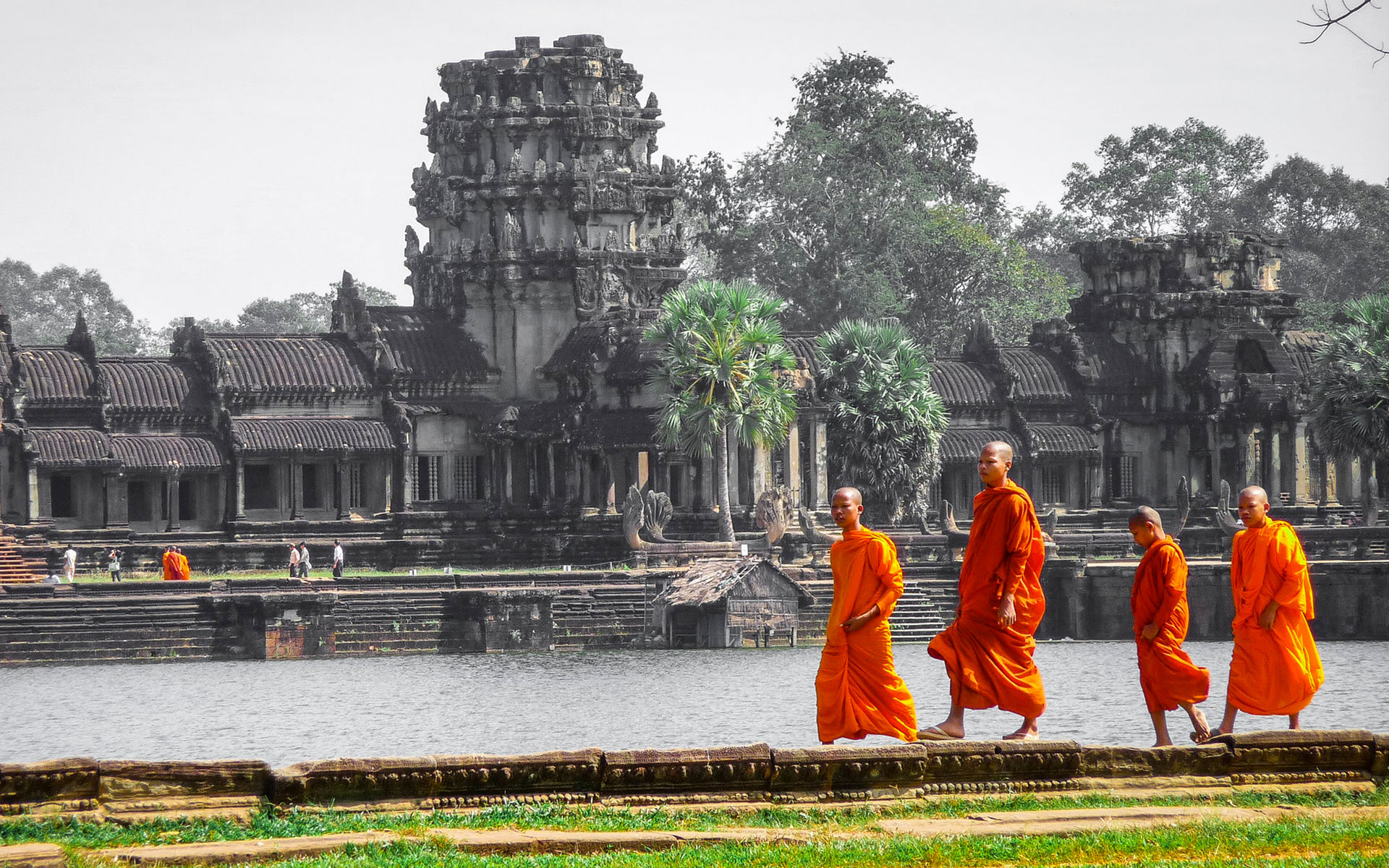 Monks in Angkor