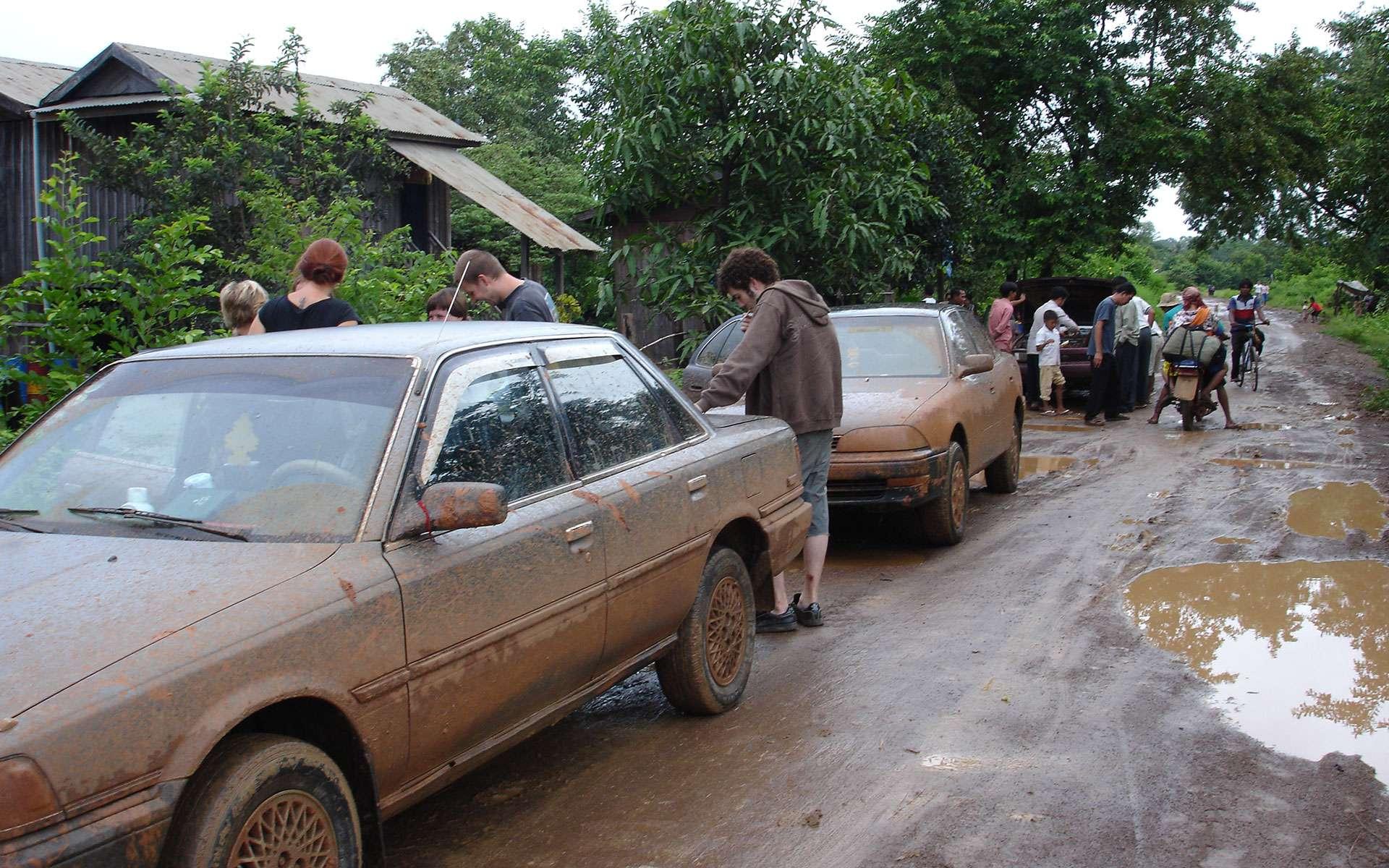 the road to Ratanakiri in rainy season